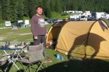 Dolomiry. Camping Alla Baita