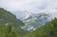Dolomity. Wodospady Fanes.